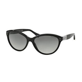 Ralph by Ralph Lauren Women's RA5168 Black Plastic Cat Eye Sunglasses