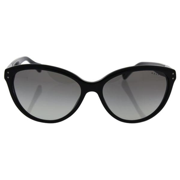 292909e3d9eec Ralph by Ralph Lauren Women  x27 s RA5168 Black Plastic Cat Eye Sunglasses