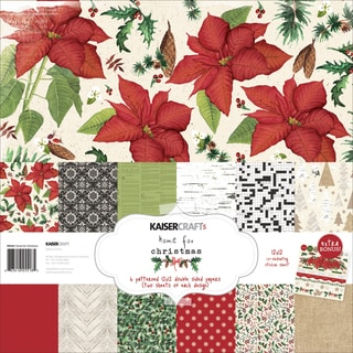 "Kaisercraft Paper Pack 12""X12"" 12/Pkg-Home For Christmas"