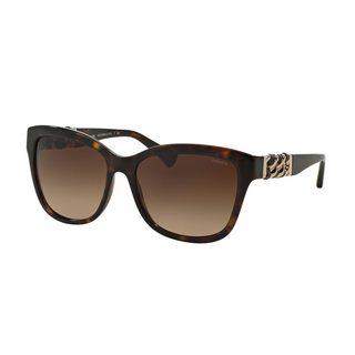Coach Women's HC8156QF Tortoise Plastic Square Sunglasses
