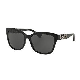 Coach Women's HC8156Q Black Plastic Square Sunglasses