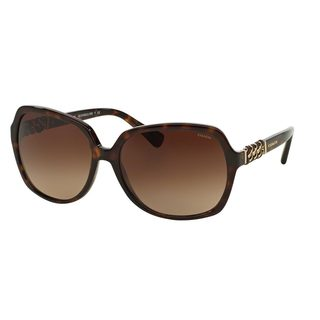 Coach Women's HC8155QF Black Plastic Square Sunglasses