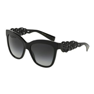 Dolce & Gabbana Women's DG4264 Black Plastic Square Sunglasses