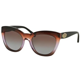 Coach Women's HC8151 Brown Plastic Cat Eye Sunglasses