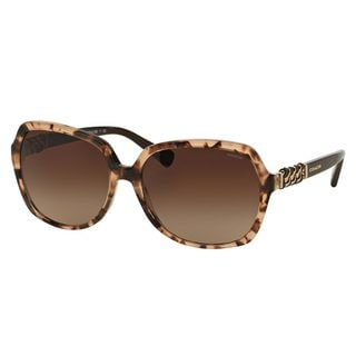Coach Women's HC8155Q Tortoise Plastic Square Sunglasses