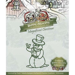 Find It Trading Yvonne Creations Magnificent Christmas Die-Snowman