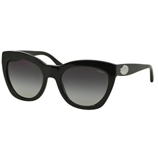Coach Women's HC8151 Black Plastic Cat Eye Sunglasses