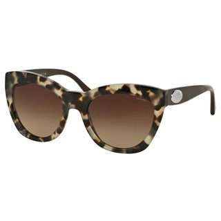 Coach Women's HC8151 Tortoise Plastic Cat Eye Sunglasses