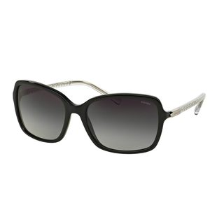 Coach Women's HC8152 Black Plastic Square Sunglasses