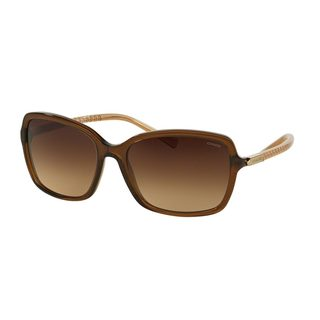 Coach Women's HC8152 Brown Plastic Square Sunglasses