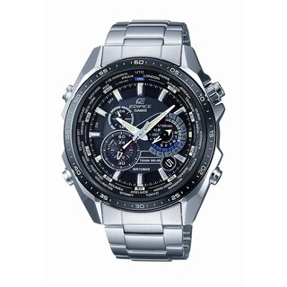 Casio Men's Edifice Tough Solar Stainless Steel Multi-Function Watch with Link Bracelet