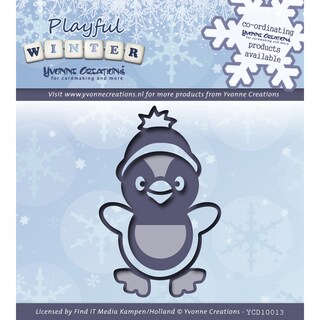 Find It Trading Yvonne Creations Playful Winter Die-Penguin