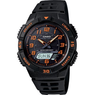 Casio Men's AQS-800W-1B2V 'Ana-Digi' Analog-Digital Black Rubber Watch
