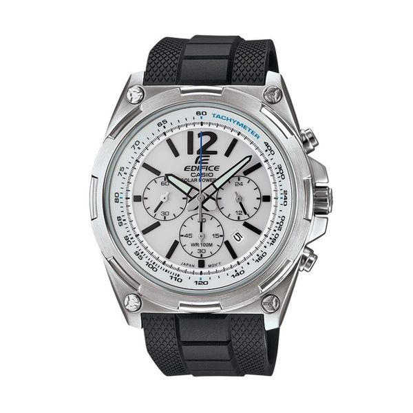 a026f7de1374 Shop Casio Men s EFR-545SB-7BVCF Edifice Tough Solar Chronograph Stainless  Steel Watch With Black Resin Band - Free Shipping Today - Overstock -  10857785