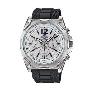 Casio Men's EFR-545SB-7BVCF Edifice Tough Solar Chronograph Stainless Steel Watch With Black Resin Band