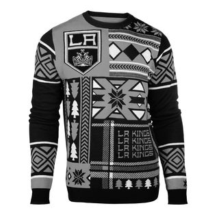 Forever Collectibles Los Angeles Kings Big Logo Crew Neck Ugly Sweater