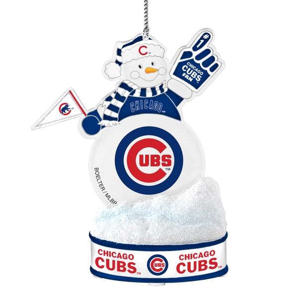 Chicago Cubs LED Snowman Ornament