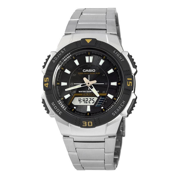 5e9a42e40 Shop Casio Men's AQS-800WD-1EV 'Ana-digi' Analog-Digital Stainless Steel  Watch - Black - Free Shipping Today - Overstock - 10857817