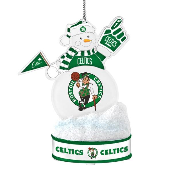 Boston Celtics LED Snowman Ornament