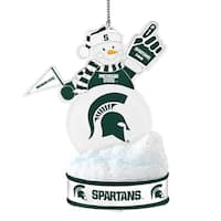 Michigan State Spartans LED Snowman Ornament