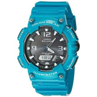 Casio AQS810WC-3AV Men's Teal Solar Analog Digital World Time Sports Watch