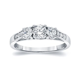 Auriya Round 3-Stone Diamond Engagement Ring 1/2ct TDW 14k Gold