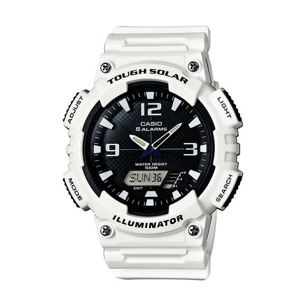 dd4bdc6b2 Shop Casio Men's AQ-S810WC-7AV 'Ana-Digi' Analog-Digital White Rubber Watch  - Black - Free Shipping Today - Overstock - 10857849