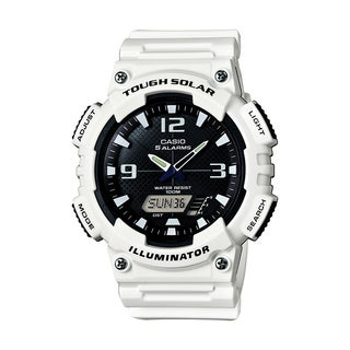 Casio Men's 'Ana-Digi' Analog-Digital White Rubber Watch - Black