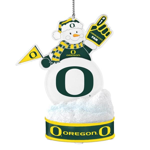Oregon Ducks LED Snowman Ornament