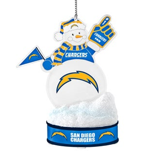 San Diego Chargers LED Snowman Ornament