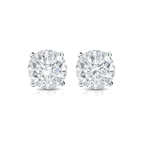 Auriya 1/3ctw Round Diamond Stud Earrings 14k Gold