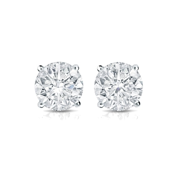 ecc53fdba Shop Auriya Round Diamond Stud Earrings 1/3 carat TW 14k Gold - On ...