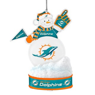 Miami Dolphins LED Snowman Ornament