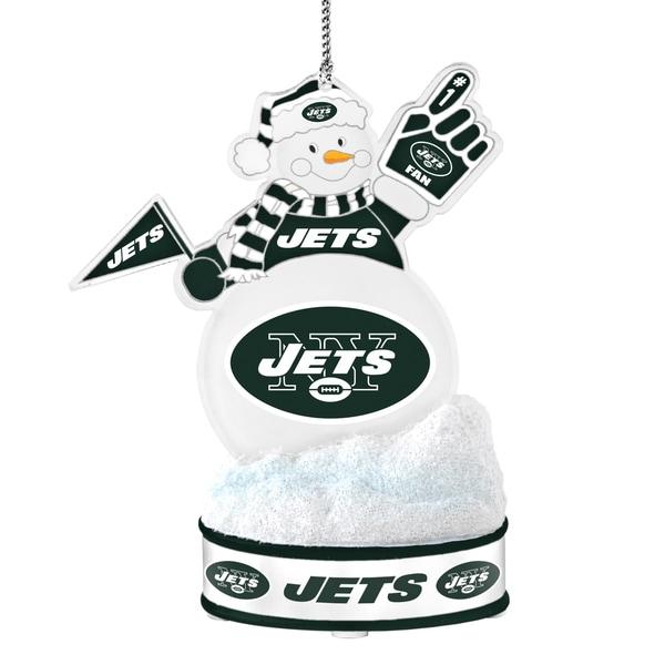 New York Jets LED Snowman Ornament