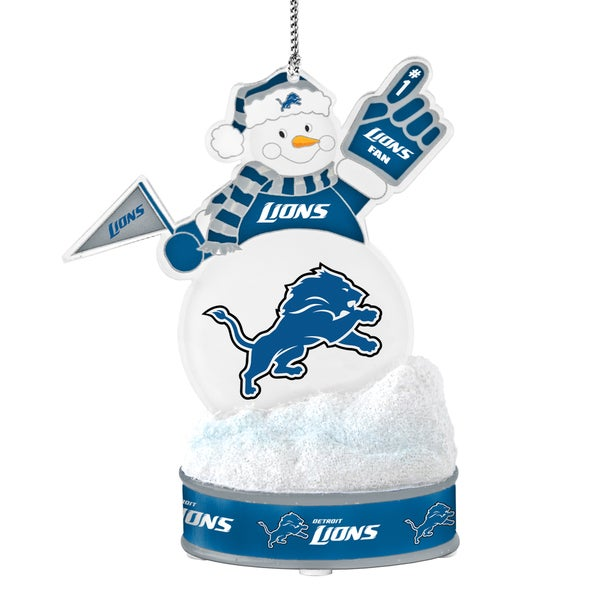 Detroit Lions LED Snowman Ornament