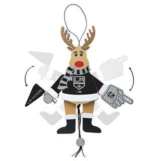 Los Angeles Kings Wooden Cheering Reindeer Ornament
