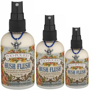 Poo-Pourri Hush Flush Wildflower Scent Before-You-Go Spray Kit