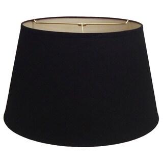 Round Black Hardback Shade
