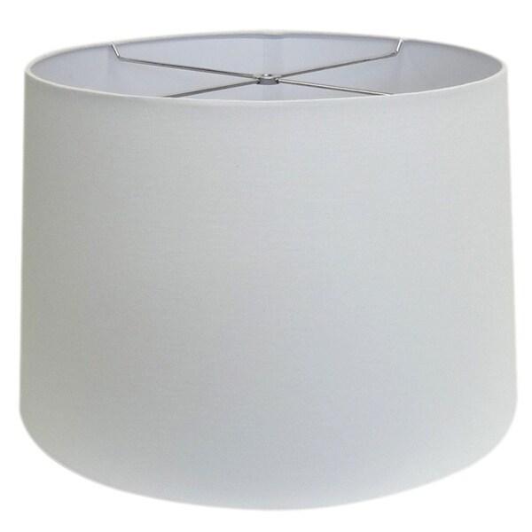 Round White-wash Hardback Shade - Lg