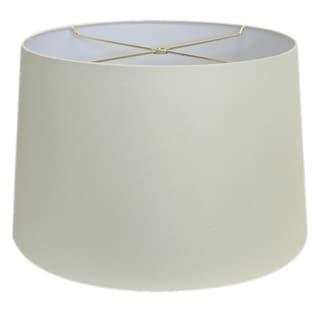 Round Cream Hardback Drum Shade Md