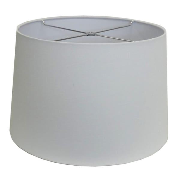 Round White-wash Hardback Drum Shade - Md