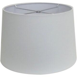 Round White-wash Hardback Drum Shade - Sm