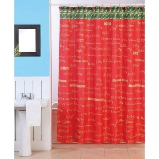 Holiday Shower Curtains - Overstock.com - Vibrant Fabric Bath Curtains
