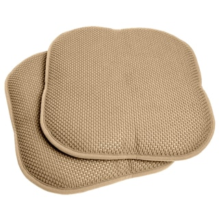 Taupe 16-inch Memory Foam Chair Pad/Seat Cushion with Non-Slip Backing (2 or 4 Pack)