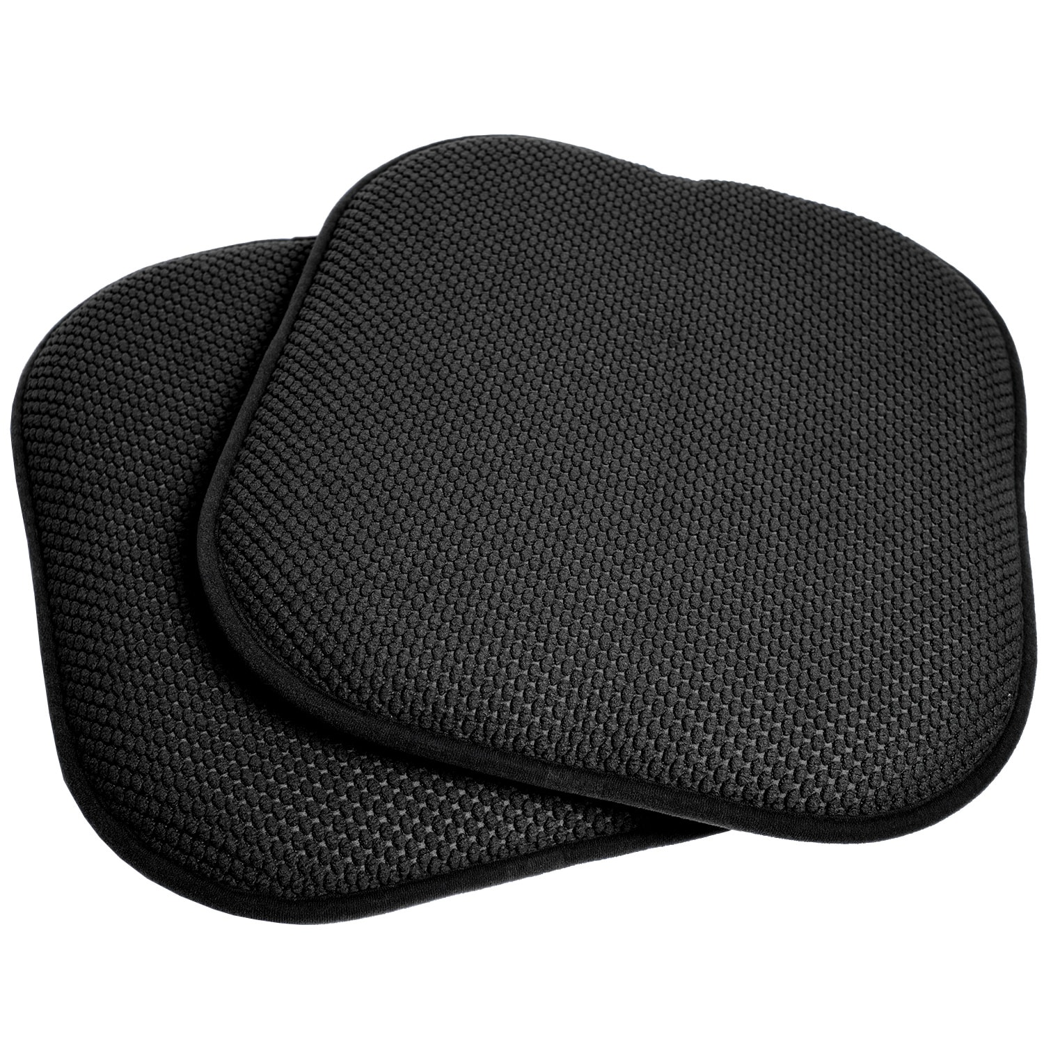Cool Black 16 Inch Memory Foam Chair Pad Seat Cushion With Non Slip Backing 2 Or 4 Pack Pabps2019 Chair Design Images Pabps2019Com