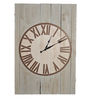 shop weathered matthew 48 inch x 32 5 inch oversized wall clock free shipping today. Black Bedroom Furniture Sets. Home Design Ideas