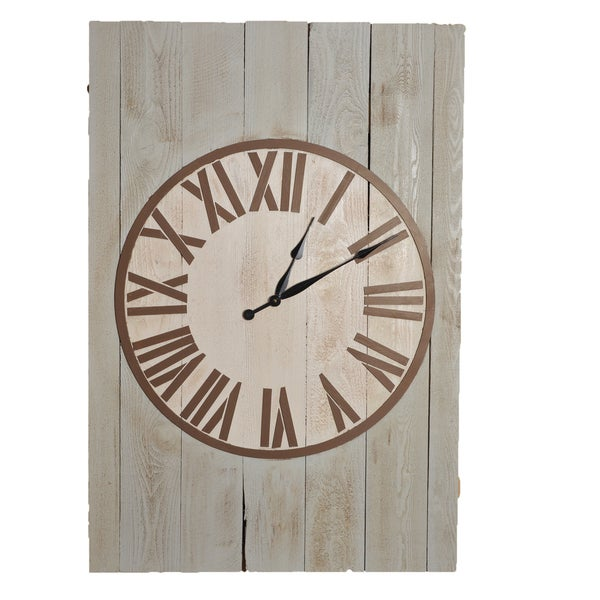 Weathered Matthew 48 inch x 325 inch Oversized Wall Clock Free