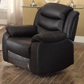 black leather recliners on sale shop bennett black leather reclining chair on sale 11230 | P17897348