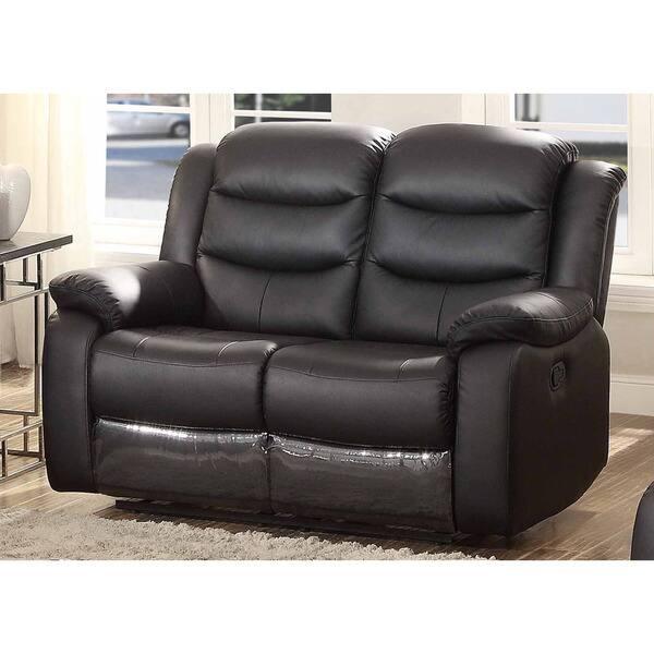 Surprising Shop Bennett Black Leather Reclining Loveseat On Sale Inzonedesignstudio Interior Chair Design Inzonedesignstudiocom