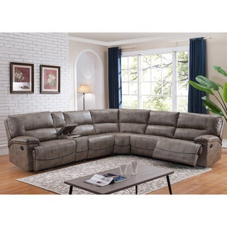 Donovan Sectional Sofa with 3 Reclining Seats  sc 1 st  Overstock.com & Sectional Sofas - Shop The Best Deals for Nov 2017 - Overstock.com islam-shia.org